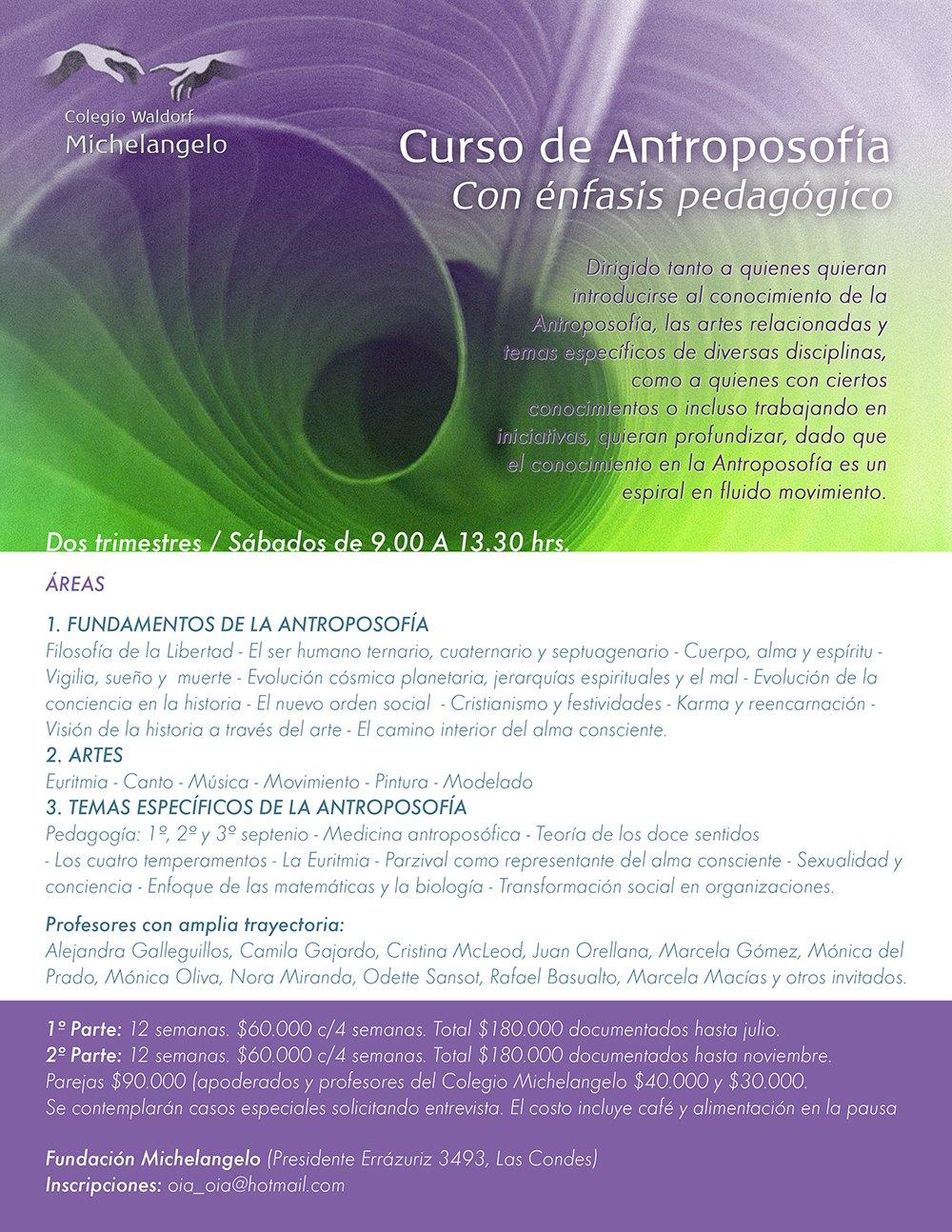 Curso de Antroposofía con Énfasis Pedagógico